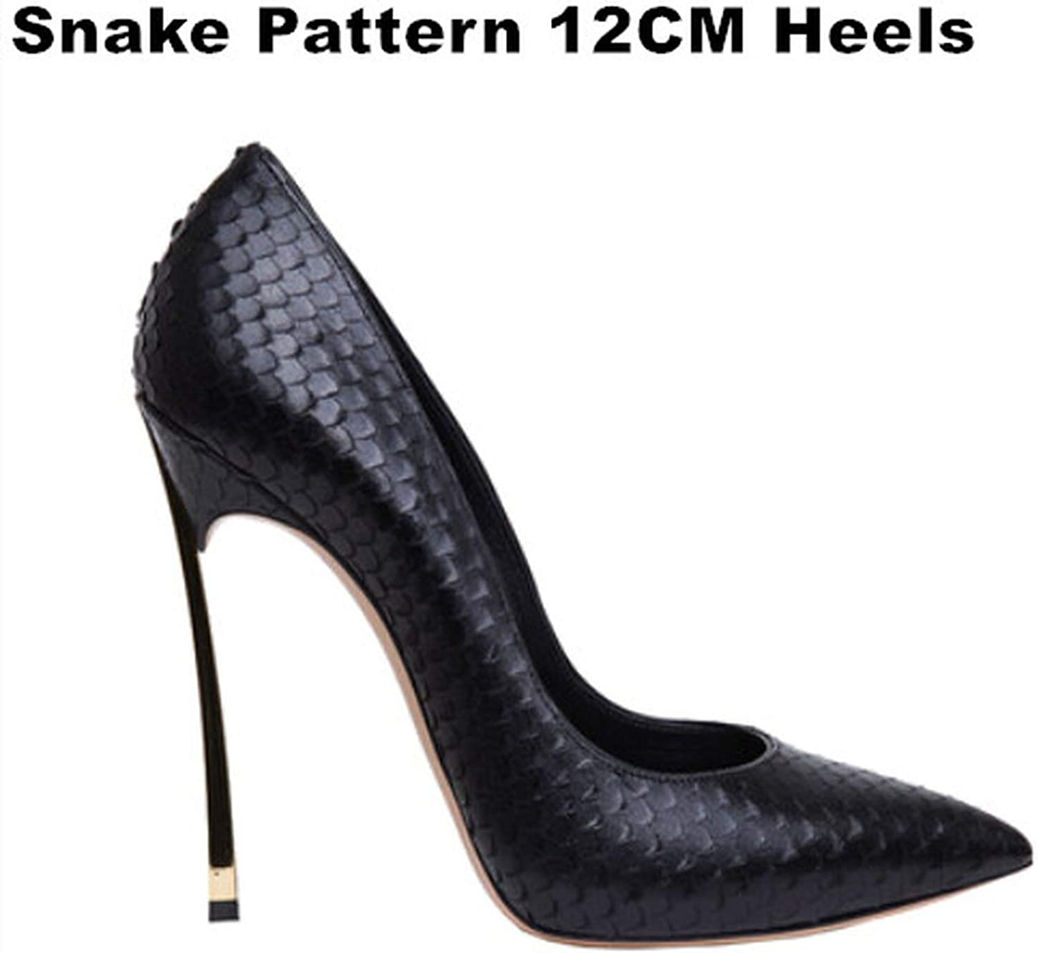 Pumps Stiletto 12Cm Heels Sexy shoes Leather Pointed Toe High Heels B-0029