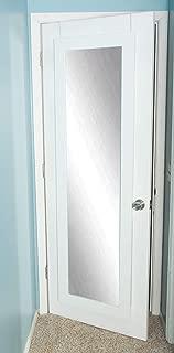 BrandtWorks BM3THINH Modern Over The Door Full Length Dressing Mirror, Matte White, Matte White