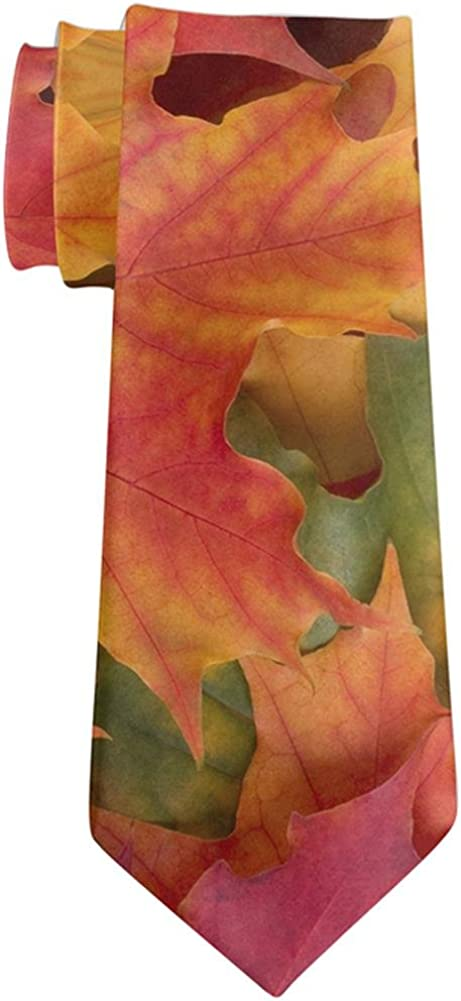 Autumn Fall Color Leaves All Over Neck Tie
