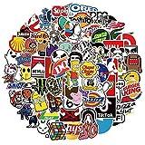ZZHH 50 Uds, Pegatina con Logotipo de Marca Genial, PVC, monopatín Impermeable, Coche, Guitarra, Motocicleta, baúl, Doodle, Pegatina DIY, Juguetes para niños