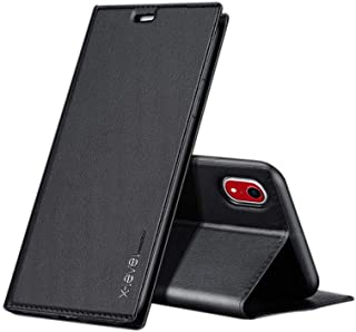 X-Level Leshare Series Flip Case Cover Suitable for Apple iPhone XR, 6.1 Inch - Black