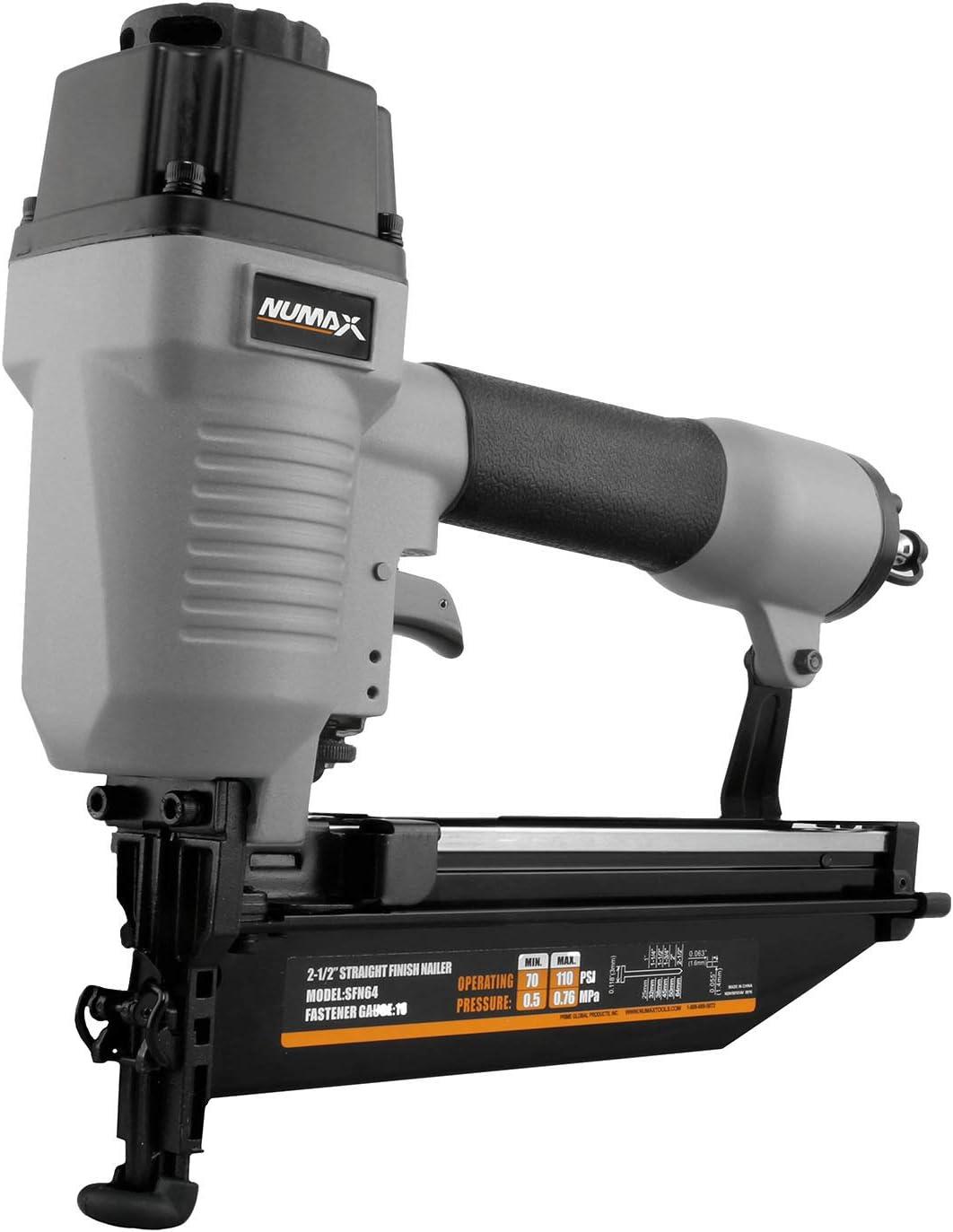 NuMax SFN64 Straight Pneumatic Nailer 2-1/2″ Lightweight