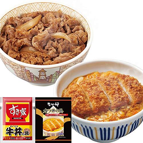 お試しコラボ 牛×カツセット(すき家 牛丼の具135g×5パック、なか卯 カツ丼の具150g×4食) 冷凍食品