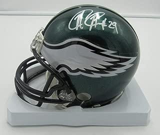 Nate Allen Eagles Autographed/Signed Riddell Mini Helmet PASS 142359