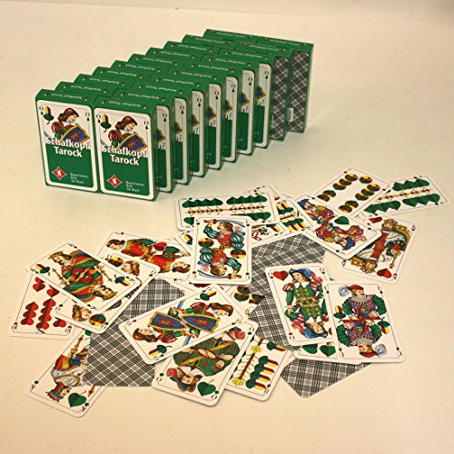 20 Pack Schafkopf-/Spielkarten mit je 36 Blatt mit Bayrischem Bild