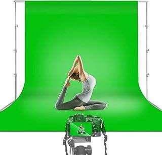 BRANDSUN Premium 8x12 Ft Professional Photoshot LEKERA Backdrop Photo Light Studio Photography Background Finishing Cloth/Curtain with Carry Bag (Green)