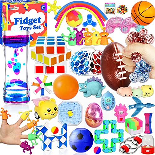 Max Fun 48 Pack Sensory Fidget Toys Set Bundle Stress Relief Anti-Anxiety Tools Toys for Kids Adult...