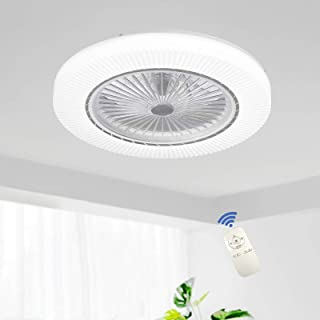 comprar comparacion Ventilador De Techo LED 90W Luz Del Ventilador Invisible Plafon Con Iluminación Control Remoto Luces Regulable Silenciosa ...