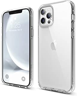 "elago Hybrid Clear Case Designed for iPhone 12 Case & iPhone 12 Pro Case (6.1""), Anti-Yellow Durable PC Back, Flexible Bum..."