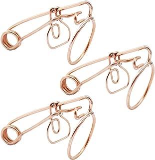 com-four® 3X Wühlmausfalle bayrische Form aus verkupfertem Stahldraht, 14,5 x 8 x 5,5 cm (03 Stück - bayrische Form)