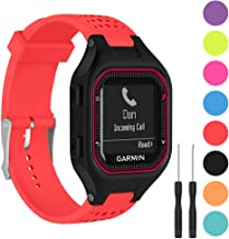 Watbro Bands Compatible with Garmin Forerunner 25 GPS Running Smart Watch, Soft Silicone Replacement Wristband, for Garmin Forerunner 25 Fitness Tracker with Adapter Tools (Man Large)