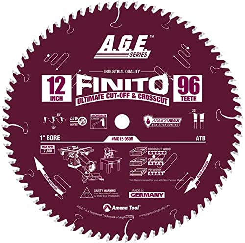 """discount A.G.E. 2021 Series by Amana Tool online Finito 12"""" X 96T Atb 1"""" Bore (MD12-960R) online"""