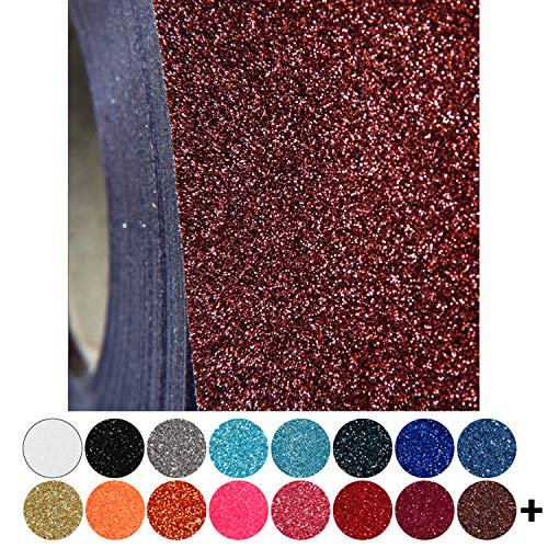 """Threadart Glitter Brown 20"""" Heat Transfer Vinyl Film 