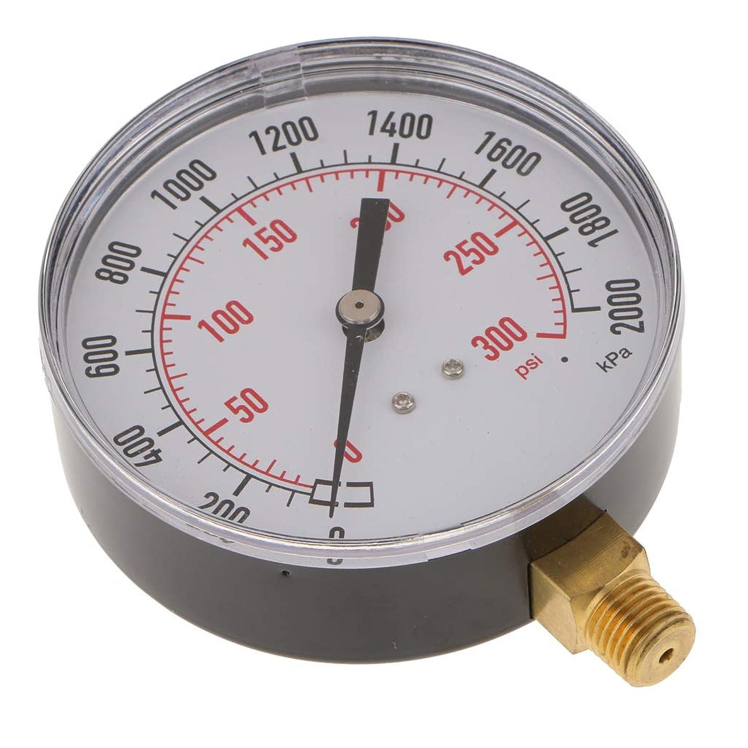 犠牲モーテル負担Fenteer 空気圧ゲージ エアコンプレッサーメーター 0-2000kpa 0-300psi サイドマウント 1/4インチ  - TS-Y91