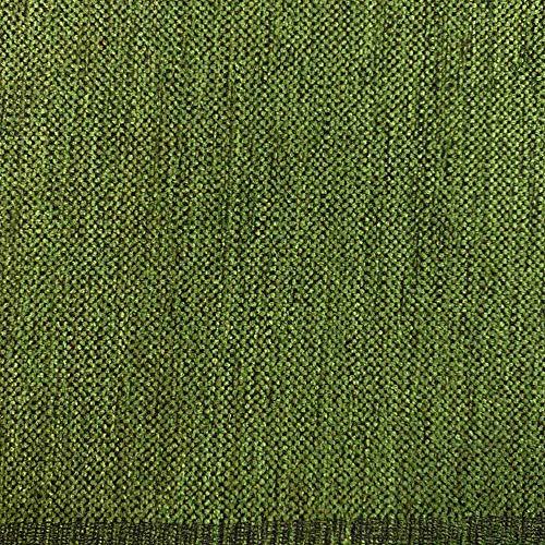 Kt KILOtela Tela de tapicería Lisa - Chenilla de Doble Cara - Tacto Suave Aterciopelado - Muy Resistente - Retal de 100 cm Largo x 280 cm Alto | Verde