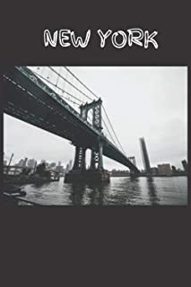 """NEW YORK: New York: Journal, Notebook, Diary, 6""""x9"""" Lined Pages, 110 Pages."""
