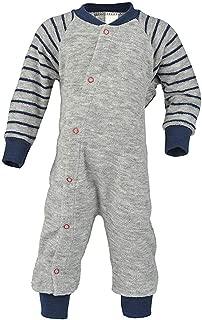 Sleep and Play Romper: Organic Wool Sleeper Pajamas for Baby Boys or Girls
