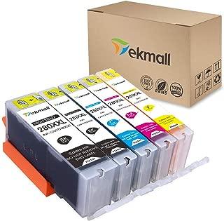 Tekmall Edible PGI-280XXL PGI 280 Compatible Ink Cartridge, Work with Pixma TS6120 TS6220 TR7520 TR8520 TS9520 TS9521C TS8120 TS8220 TS9120,5Pack