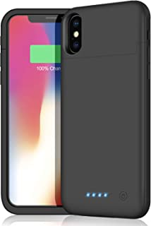 iPhoneX/XS/10 対応 バッテリーケース 【5200mah】 バッテリー内蔵ケース iPhoneX/XS/10 対応 battery case 薄型 iPhone X / XS 適応 充電ケース 大容量 充電器付きiPhone10対応ケース 軽量 ブラック