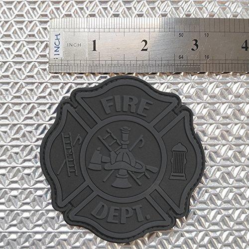 fire fighter department PVC glow dark ACU badge emblem patch VELCRO® brand