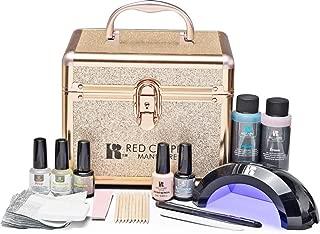 Red Carpet Manicure Pro 45 Ultimate Pro LED Gel Nail Polish Kit with Train Case
