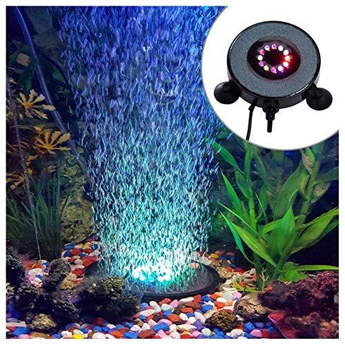 MSQL Unterwasser-LED-Leuchten, Bunte Aquarienleuchten, wasserdichte runde Luftblasenleuchte, für Gartenteich-Aquarium-Swimmingpool, AC 100-240V
