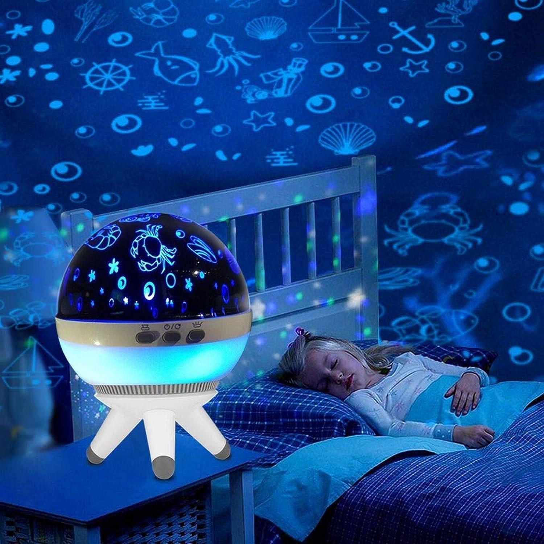 ZHENWOFC 1W romantische LED rotierenden Ocean Projektor Nachtlicht für Kind Kindergarten Stimmung Schlaf dekorative Lampe Innenlicht (Farbe   Weiß)