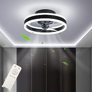 Ventilateur de Plafond LED Dimmable (3000-6500K) Fan Plafonnier Silencieux Ventilateur Plafonnier avec Télécommande 48W Ré...