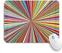 EILANNAマウスパッド 抽象的なカラフルな背景 ゲーミング オフィス最適 おしゃれ 防水 耐久性が良い 滑り止めゴム底 ゲーミングなど適用 用ノートブックコンピュータマウスマット