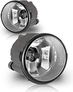AUTOFREE OEM Fog Lights for Nissan 09-14 Cube/11-14 Juke/11-15 Rogue/07-11 Versa/Infiniti QX70 14-16, 1 Pair with bulbs H8 12V35W (Clear lens)