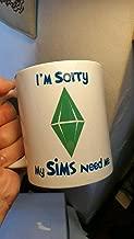The Sims Mug Gift Gaming 11oz Birthday the Sims 2 My Sims Need Me Birthday