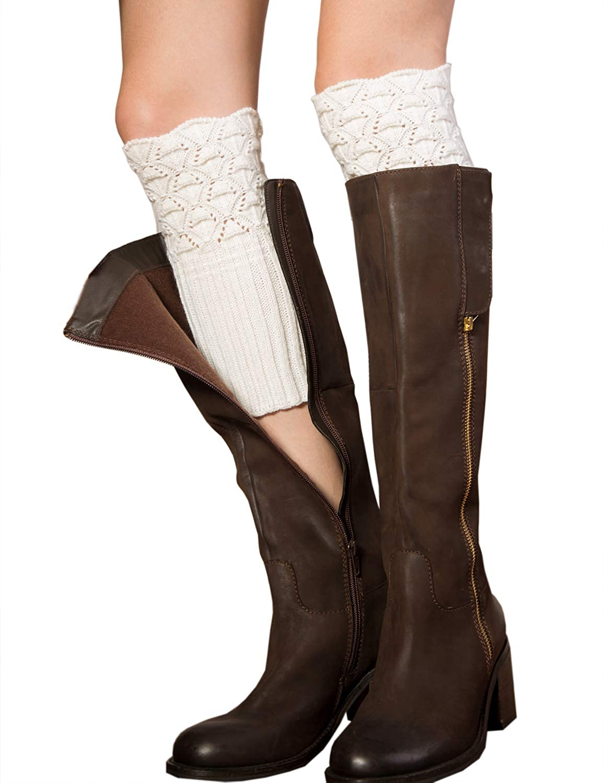 YaGe+ Women's Winter Soft Crochet Boot Cuffs Leg Warmer S121