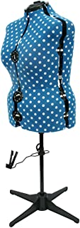 Sewing Online Adjustable Dressmakers Dummy - Duck Egg Blue Polka Dot - Size Large UK 20-22. Available in 4 Sizes. Made in ...