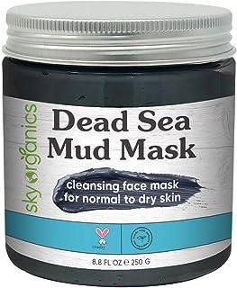 Dead Sea Mud Mask by Sky Organics (8 oz) For Face, Acne, Oily Skin & Blackheads - Best Facial Pore Minimizer, Reducer & Po...