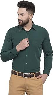English Navy Men's Slim Fit Formal Shirt (12001Bottle-Green_Green_38)