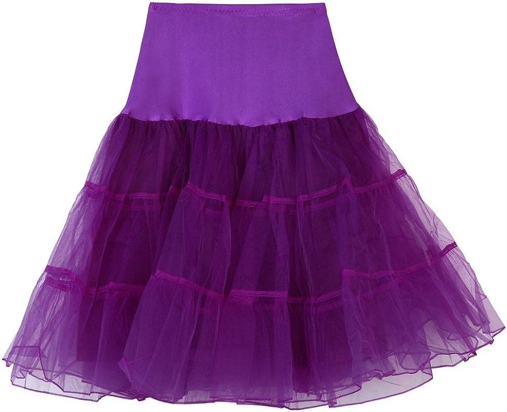 TUSANG Womens Casual High Waist Pleated Short Skirt Adult Tutu Dancing Skirt Purple