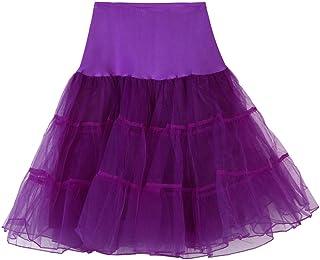 7fd7ef92afcea FNKDOR Jupon années 50 Vintage en Tulle Rockabilly Petticoat Femme Fille