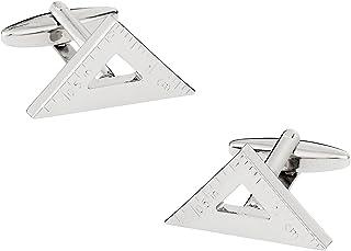أزرار أكمام مثلثة الشكل مسطرة لقياس الكف - دادي مهندس اركيتيكت مع صندوق عرض