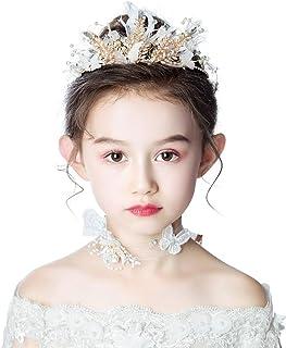 RKY Ragazze Corona, Bambini Ragazza Capolino Ornamenti Ragazza Ghirlanda Corona Copricapo Set Bambina Principessa Fiore Ac...