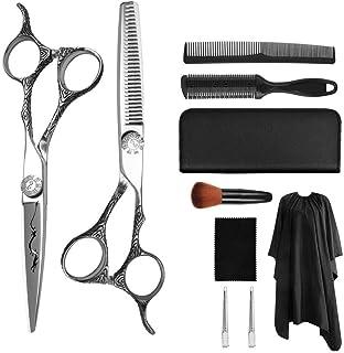 YK SCISSORS Tijeras de Corte para el Cabello, Tijeras de estilismo de Borde de Afeitar, Tijeras de Corte para peluquería E...