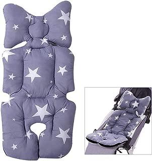waschbar Kinderwagen Kissen grau Gr/ö/ße 35 x 80 cm Baby Sitzkissen Atmungsaktiver Komfort KiraKira Sitzauflagen f/ür Kinderwagen Kinderwagen universal