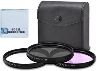 62mm High resolution Pro series Multi Coated HD 3 Pc. Digital Filter Set for Tamron Zoom Super Wide Angle 18-200mm f/3.5-6.3 XR Di-II LD Aspherical (IF) Macro Lens, 70-300mm f/4-5.6 Di LD Macro Autofocus Lens and More Models + eCost Microfiber Cloth