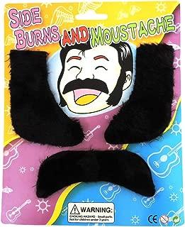 70's Retro Disco Elvis Sideburns & Mustache Costume Set