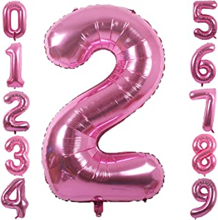 balloon centerpieces with numbers