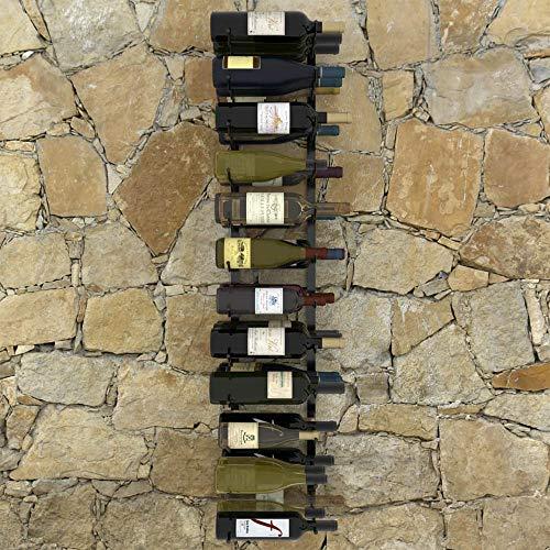 Botellero de Pared para 24/36 Botellas Botellero de Vino Soportes Hierro Estantes de Vino Champagne Cerveza Decoración para Bar Hogar y Cocina [EU Stock]