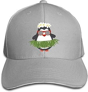 Cute Hawaiian Hula Penguin with Sunglasses Adjustable Sandwich Hats Baseball Cap Sun Hat