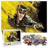 Thor Puzzle 1000 piezas para adultos y niños Loki Large puzzles actividades familiares juegos entre padres e hijos 70x50cm-Marvel hero