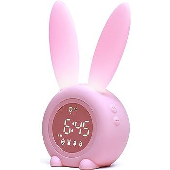 Kids Alarm Clock for Kids Toddlers Children's Sleep Trainer, Wake Up Light & Night Light Clock for Boys Girls Bedroom