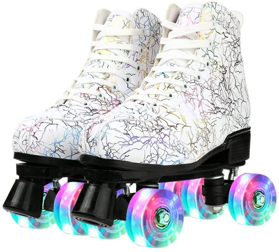 Women Roller Skates PU Leather Fo online shop Row Super Special SALE held Double Shoes