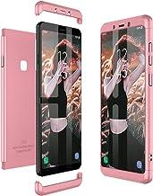 Winhoo para Funda Samsung Galaxy A9 (2018)/A9 Star Pro/A9S Carcasa Fundas para 360 Grados 3 en 1 Desmontable Ultra-Delgado Anti-Arañazos Case Protectora - Oro Rosa